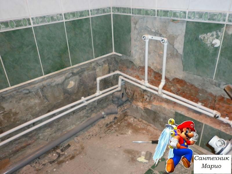 Канализация в ванную своими руками