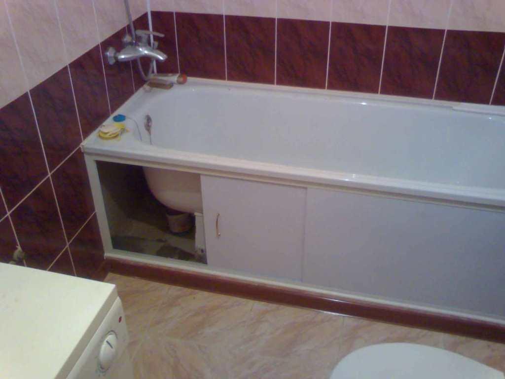 Как экран под ванну сделать